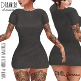 Paper.Sparrow Dreamers Dress - Charcoal