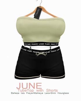 DarkFire June Tube Top w/Shorts #08
