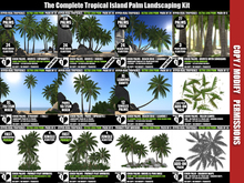 PALM TREES – Tropical Island Coco Palm Landscaping Kit