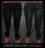 CMORE - Jean Capris Black & Blue