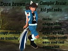 avatar complet Dora kid Neko brown