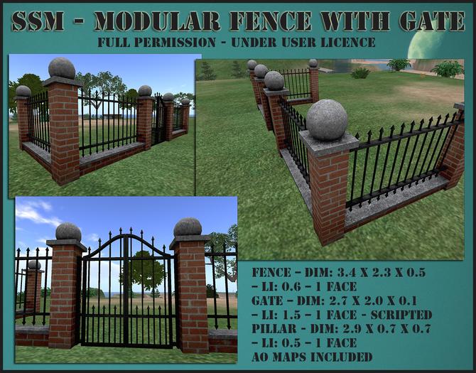 SSM - Modular Fence with Gate
