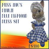 Miss Ing's Dinkie Blue Diamond Dress Set