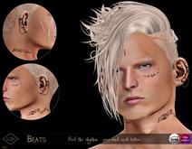 Lush - Beats - Feel the rhythm - face & neck tattoo