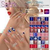 SPARK. - Nails - Stars 'N Stripes [MAITREYA/SLINK/OMEGA/VISTA]