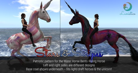 Lunistice: Stars & Stripes - Water Horse Pattern/Tattoo