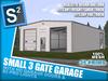 S2 Small 3 Gate Garage