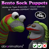 * Bento Sock Puppets * [REDUCED]