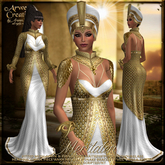 {AS} Meritaten Fitted Mesh Gown: Beaded Gold; Egypt, Fantasy, Queen, Pharaoh, Nefertiti, Maitreya, Physique, Hourglass