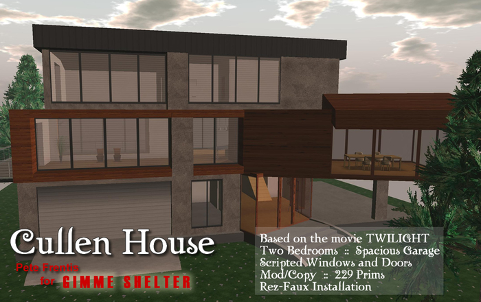 Second Life Marketplace Twilight Cullen House Vampire S Modern Home Furniture Included