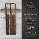 Vintage Touch Antique Wooden Sled (Oak)