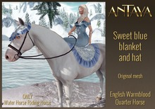 :: ANTAYA :: WHRH Sweet blue blanket and hat - ADD ME