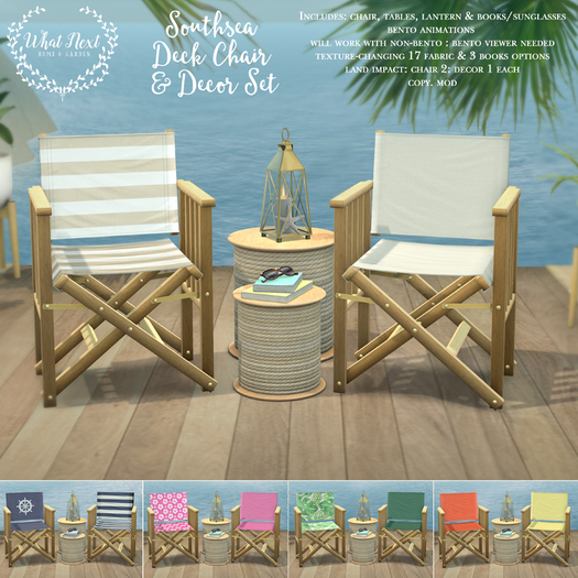 {what next} Southsea Deck Chairs & Decor Set