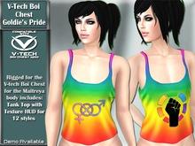 V-Tech Boi Chest Goldie's Pride Tank Top