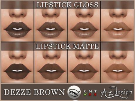 Az... Dezze Brown Lipstick (CATWA APPLIER)