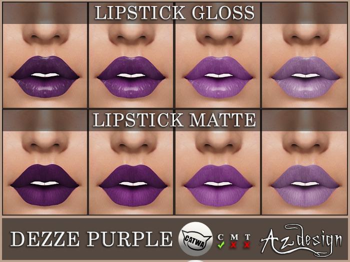 Az... Dezze Purple Lipstick (CATWA APPLIER)