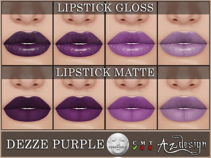 Az... Dezze Purple Lipstick (LELUTKA APPLIER)