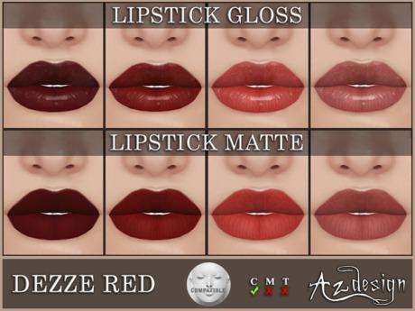 Az... Dezze Red Lipstick (LELUTKA APPLIER)
