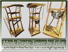 Mesh pirate tower 11 prim two versions 7m 10m high copy mody
