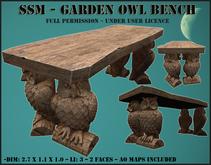 SSM - Garden Owl Bench