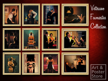 12 Vettriano Favourites Collection | Gold Fluted Frame