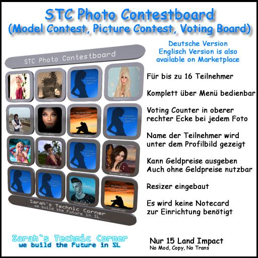 STC Photo, Model, Picture Contest Voting Board (Deutsche Version)