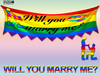 [SuXue Mesh] LGBT For Gays Will You Marry Me Hanging Banner Resizable