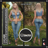 [RnR] Swag Sinclaire Country Western Outfit in Denim and Works w/ Maitreya, Hourglass, Physique!