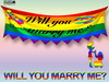 [SuXue Mesh] LGBT Will You Marry Me Hanging Banner - For Lesbians - Resize