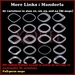 Mandorla Link sculpties, bent / curb links, NANO sculpts, for necklace / bracelet / jewelry / chain