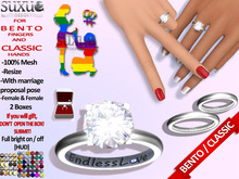 [SuXue Mesh] FATPACK Star Bento & Classic UnRigged Wedding Rings & Bands Hud Resize Proposal Pose 2 Lesbians