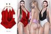 Tachinni - Alexa Bodysuit - Red - Maitreya / Belleza / Slink