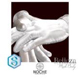 NOCHE. Buck Leather Gloves White
