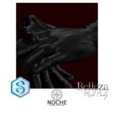 NOCHE. Buck Leather Gloves Black