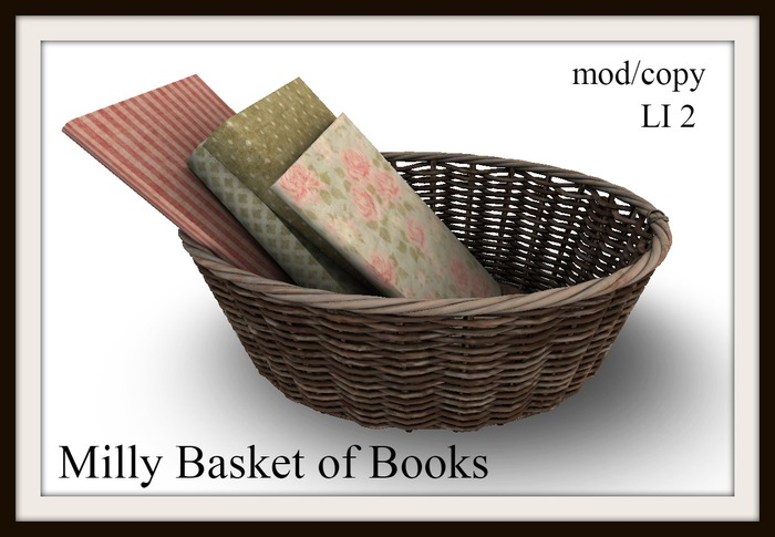 Milly basket of books