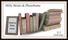 Milly books & photo frame