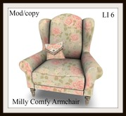 Milly comfy armchair