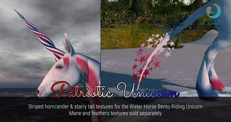 Lunistice: Patriotic Pack - Water Horse Unicorn