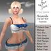 TR Amanda Mesh Short bandanna style paisley style shirt crop top halter and jean rigged mesh skirt
