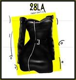 28LA. Black Leather Dress