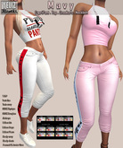.:-->> YELIZ <<--:.  *MAVY* Top ● Capri Pant ● Sneakers ● Neck Belt - HUD -