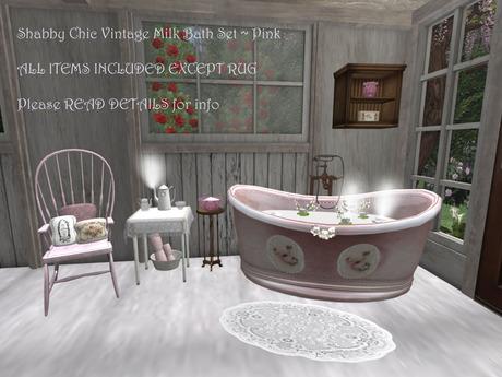 Shabby Chic Vintage Bathtub Milk Bath