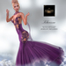 Td klarissa gown with appliers     purple