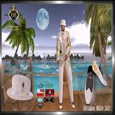 Rossanno  Men Mesh White  Suit