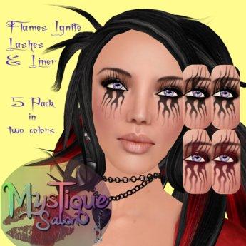 MysTique Flames Ignite 2.0 Eyelashes & Eyeliner Set