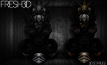 Fresh3D Devil Throne STATUE
