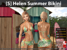 [S] Helen Summer Bikini Leaves