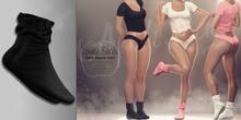 (AMD) LoungeWear Socks - Black (wear to unpack)