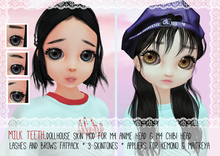 milk teeth. DOLLHOUSE Skin Pack for M4 Head & M4 Chibi, Kemono & Maitreya * FATPACK!
