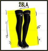 28LA. Black Contact Boots WHITE